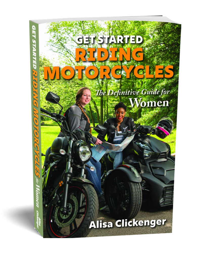 book alisa clickenger get started riding motorcycles